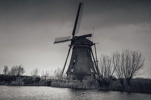 Kinderdijk B&W van Joris Pannemans - Loris Photography