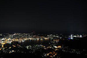 Nagasaki nacht uitzicht van