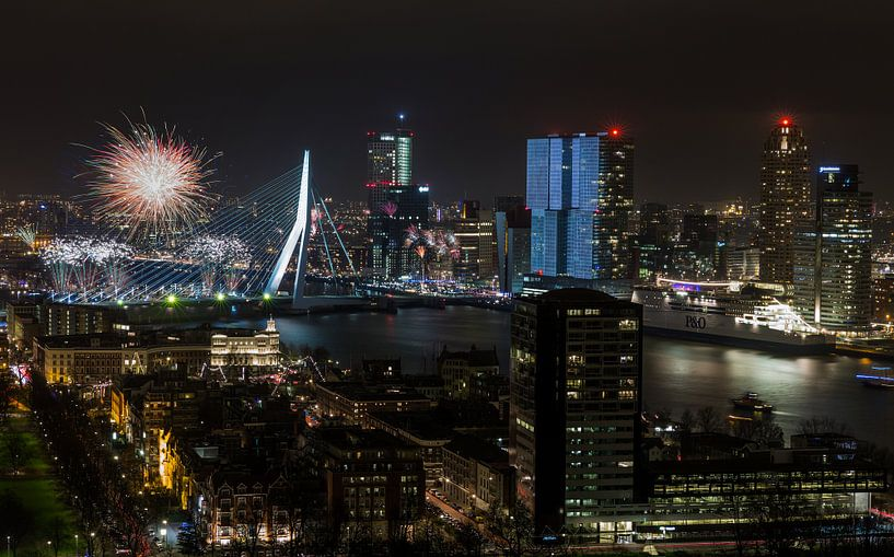 Nationaal Vuurwerk 2015 in Rotterdam van MS Fotografie   Marc van der Stelt