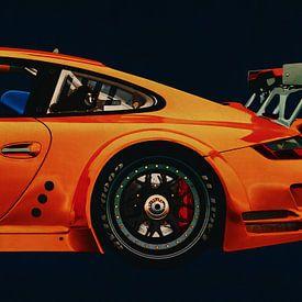 Porsche 997 GT3 RS CUP vue de côté sur Jan Keteleer