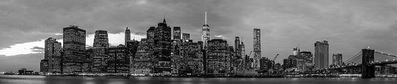 New York Skyline Panorama van Thomas van Houten