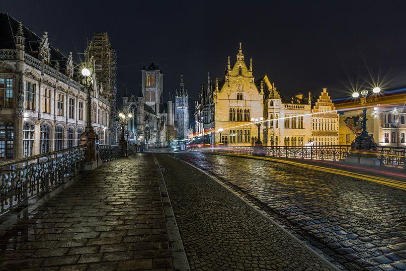 De Sint Michielsbrug in Gent van MS Fotografie   Marc van der Stelt