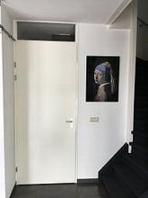 Kundenfoto: Das Mädchen mit dem Perlenohrgehänge Digital Art von Erik-Jan ten Brinke