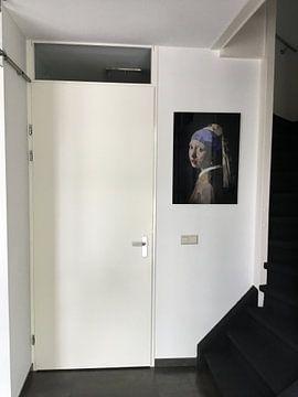 Photo de nos clients: Das Mädchen mit dem Perlenohrgehänge Digital Art sur Erik-Jan ten Brinke