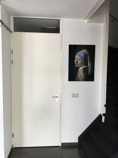 Klantfoto: Low Poly Meisje met de Parel van Erik-Jan ten Brinke