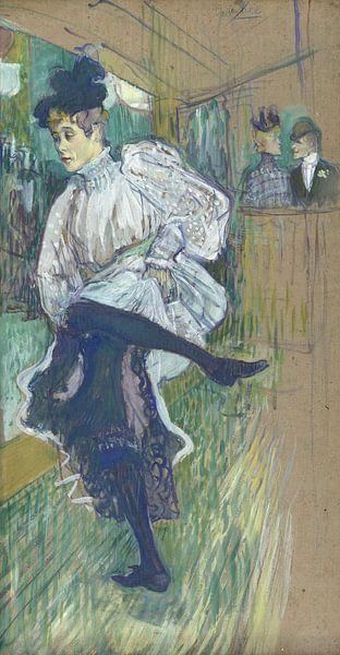 Jane Avril tanzt, Henri de Toulouse-Lautrec - 1892 von Het Archief