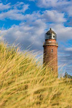Leuchtturm am Darßer Ort an der Ostsee von Werner Dieterich