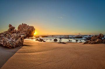 Zonsondergang op het strand van videomundum