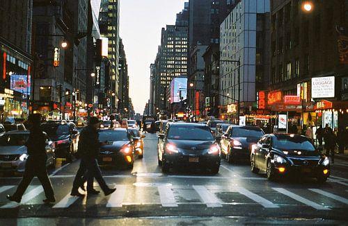 Zebrapad in New York, Verenigde Staten (analoog) van
