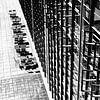 Terrasse auf der Rückseite der Bauhaus Schule Dessau von Raymond Wijngaard Miniaturansicht