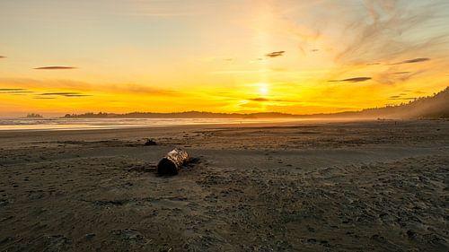 Zonsondergang bij Pacific Rim Vancouver Eiland