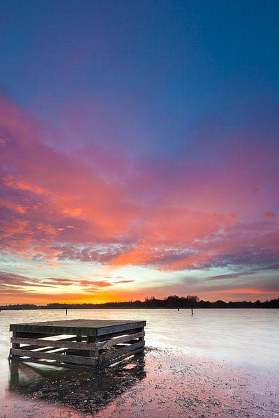 Hoornse Plas bij zonsopkomst van Ron Buist