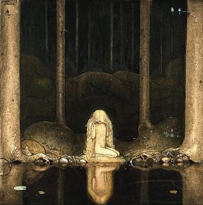 Prinzessin Tuvstarr an den dunklen Wassern eines Waldsees