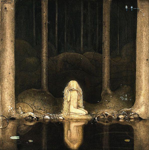 Prinzessin Tuvstarr an den dunklen Wassern eines Waldsees von Zeger Knops