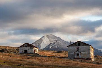 Verlassene Häuser auf Colesbukta, Spitzbergen von Michèle Huge