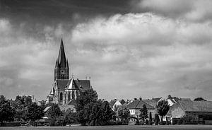 Landschap met kerk van Thorn van