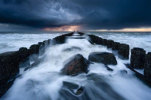 Onweer aan zee