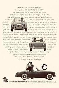 VINTAGE WERBUNG MG 1960