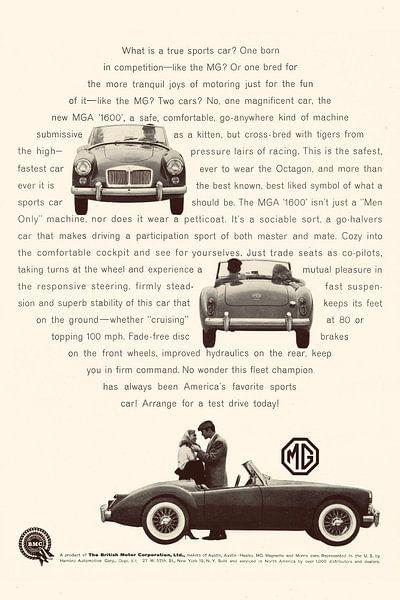 VINTAGE WERBUNG MG 1960 von Jaap Ros