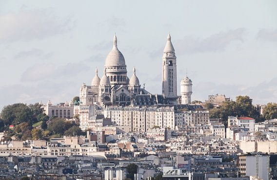 De Basiliek van Sacré-Coeur in Parijs van MS Fotografie