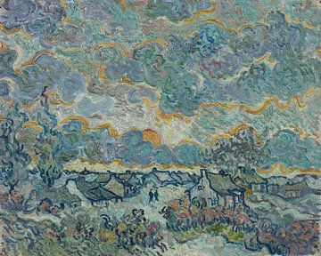 Huisjes en cipressen, Herinnering aan het Noorden, Vincent van Gogh, Vincent van Gogh