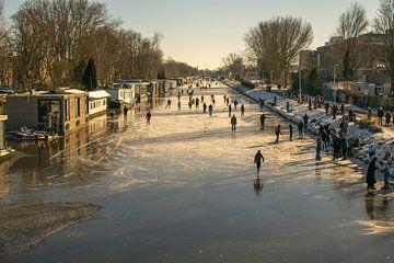 Merwede in de winter van Bart van Lier