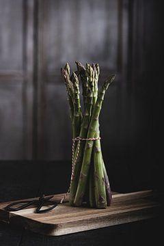 Groene asperges van Anoeska Vermeij Fotografie