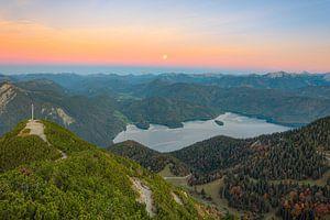 Volle maan boven de Walchensee