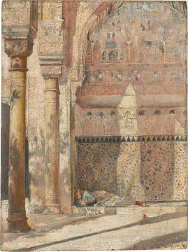Tom Roberts, Genieten - een hoek in het Alhambra - 1883 van Atelier Liesjes