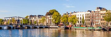 Nederlandse brug Magere Brug in Amsterdam van Werner Dieterich