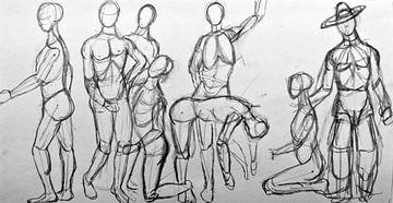 Zeichnen von menschlichen Figuren. von Therese Brals
