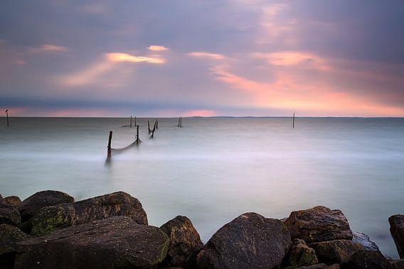 Visnetten in een onweersbui van Mark Scheper