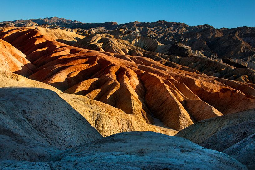 De zandduinen van Death Valley (USA) van Jaap van Lenthe
