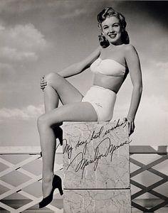 Pinup Marilyn Monroe, frühes Foto