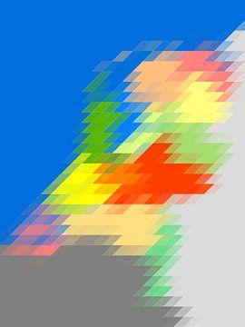 Parallellogrammenkaart van Nederland van Frans Blok