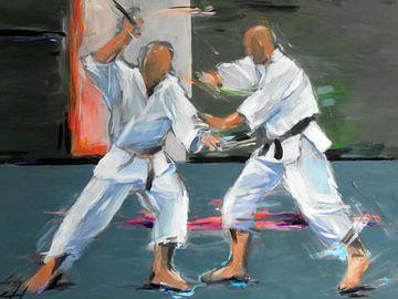 Karate - Gertjan sensei en Jerry sensei von Lucia Hoogervorst