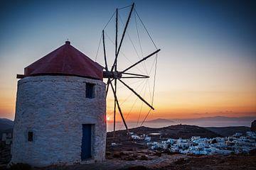 Amorgos - Windmühlen von Chora von Alexander Voss
