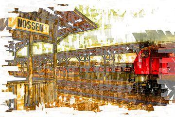 Station Nossen / Saksen met DB 218 van Johnny Flash