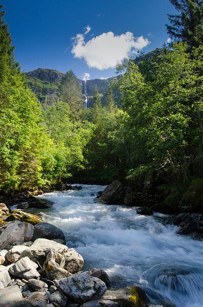 Elvadalen waterval in Noorwegen van Ricardo Bouman