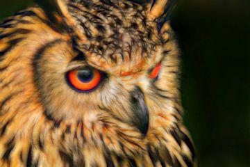 Porträt Bengal Eagle Owl. von Michar Peppenster