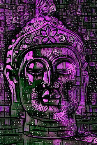 Buddha - the Joy in Violett