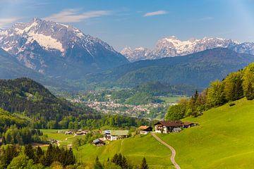 Landschap van het Berchtesgadener land, Duitsland van Henk Meijer Photography