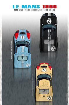 GT40 Afwerking naast elkaar 1966 van Theodor Decker