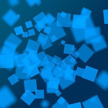 Blue Squares van Jörg Hausmann