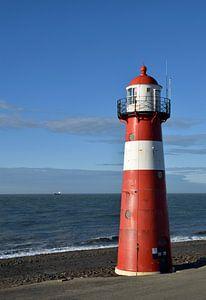 Phare de Westkapelle sur la côte de la mer du Nord en Zélande