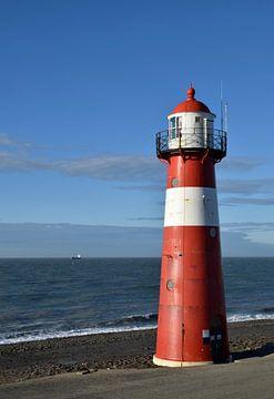 Leuchtturm bei Westkapelle an der Nordseeküste in Zeeland von Robin Verhoef