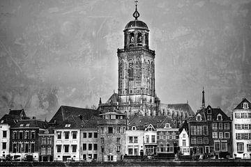 Stadsgezicht Deventer (3a) van Rob van der Pijll