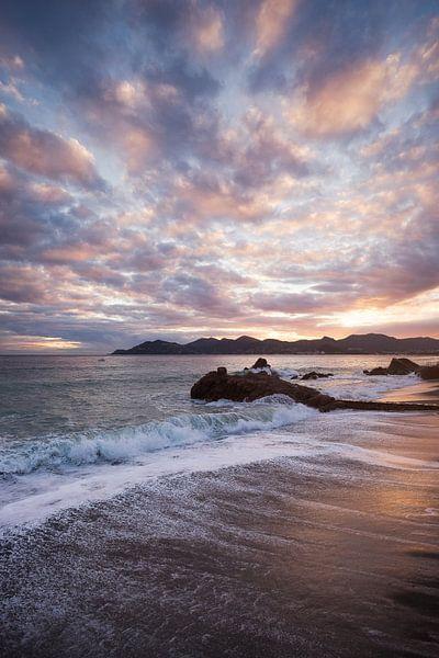 Sonnenuntergang über der Bucht von Cannes von Yannick Lefevre