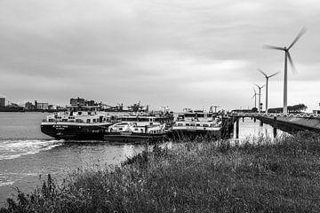 Moulins à vent dans le port