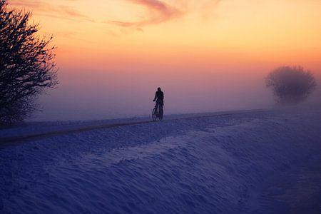 De eenzame fietser...